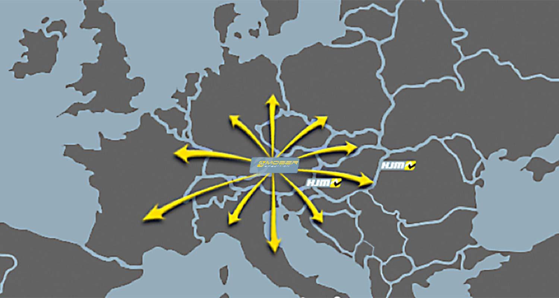 Transporte europaweit – Spedition Moser